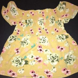 Monteau yellow floral top